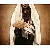 Fish, Christianity, Bread, Sharing