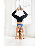 Hand Stand, Weightlifting, Workout