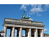 Berlin, Brandenburg gate, Quadriga statue
