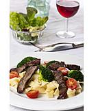 Pasta, Dinner, Beef Fillet