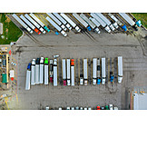Logistics, Truck, Parking Lot