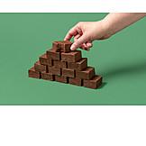 Stacks, Chocolate cake, Brownie