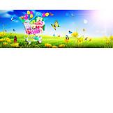 Shopping, Flowers, Spring, Cart, Online
