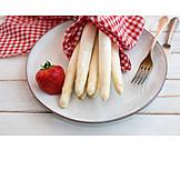 Asparagus, Strawberries, White Asparagus