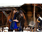 Woman, Horses