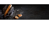 Baguette, White bread, Crust