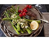 Asparagus, Lunch, Sauce Gribiche