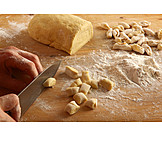 Preparation, Cutting, Homemade, Gnocchi