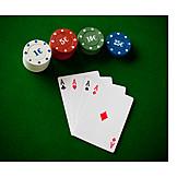 Spades, Heart, Cross, Ace, Card Fan, Wager