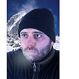 Winter, Shivering, Hiker