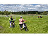 Bicycle, Cycling, Pushing