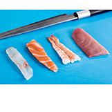 Preparation, Sushi, Salmon, Tuna, Raw Fish