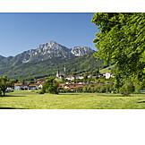 Berchtesgadener Land, Meadow, Hochstaufen