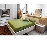 Television, Bedroom, Hotel Room