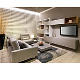 Sofa, Television, Living Room