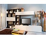 Television, Living Room, Shelf