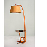 Table, 60s, Floor lamp, Combination