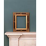 Gilded, Antique, Picture frame, Opulent