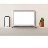 Copy Space, Laptop, Smart Phone