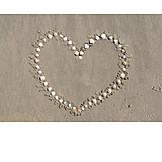 Sand, Mussel, Heart