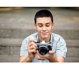Teenager, Smiling, Photograph, Analog, Photo Camera