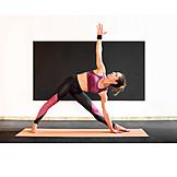 Yoga, Stretching, Trikonasana