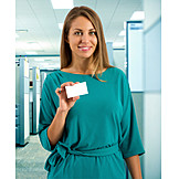 Office, Contact, Business Card, Businesswoman