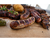Grooved, Sausage, Barbecue