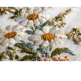Flowers, Textile, Embroidery