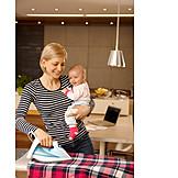 Baby, Mother, House Work, Multi Tasking