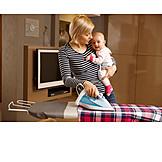 Baby, House Work, Housewife, Multi Tasking