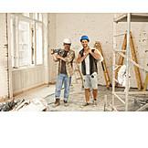 Teamwork, Construction Site, Friends, Remodeling