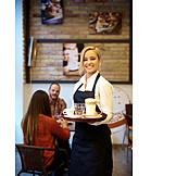 Gastronomy, Cafe, Friendly, Working, Waitress