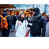 Couple, Winter, Christmas Market