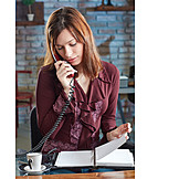 Business Woman, Office, On The Phone, Secretary