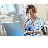 Business Woman, Laptop, Homeoffice
