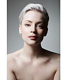 Young Woman, Nude, Portrait, Makeup