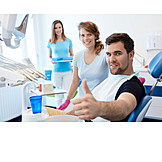 Patient, Treatment, Thumbs Up, Dentist