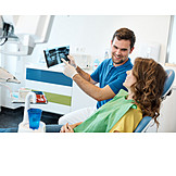 Showing, Dentition, X Ray, Dentist