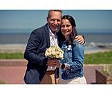 Couple, Bridal Bouquet, Bridal Couple