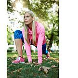 Stretching, Workout, Runner