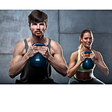 Sports Training, Weightlifting, Workout, Kettlebell