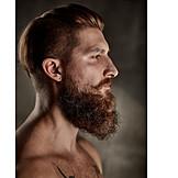 Man, Serious, Style, Beard, Bearded