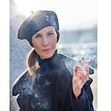 Smoking, Portrait, Fashion