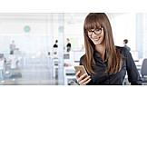 Business Woman, Office, Internet, Online