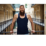 House, Portrait, Bearded, Hipster