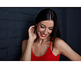 Woman, Looking Away, Smiling, Portrait