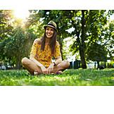 Woman, Meadow, Summer