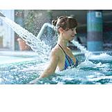 Woman, Relaxation, Swimming Pool, Jet, Massage