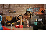 Woman, Weightlifting, Workout